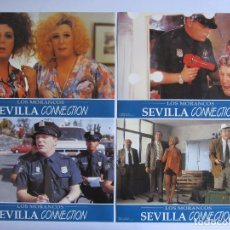 Cine: SEVILLA CONNECTION. LOS MORANCOS 12 FOTOCROMOS ORIGINALES DE LA PELICULA 34 X 24 CMS. NUEVOS. Lote 61407291