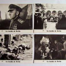 Cine: LA BATALLA DE BERLIN. 10 FOTOCROMOS ORIGINALES DE LA PELICULA B/N YURI OZEROV/JULIUS KUN (IN CINE). Lote 61870876