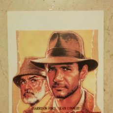 Cine: IMPRESO SENCILLO - 9*13 - INDIANA JONES Y LA ULTIMA CRUZADA - ALBUM - HARRISON FORD - SEAN CONNERY. Lote 62160712