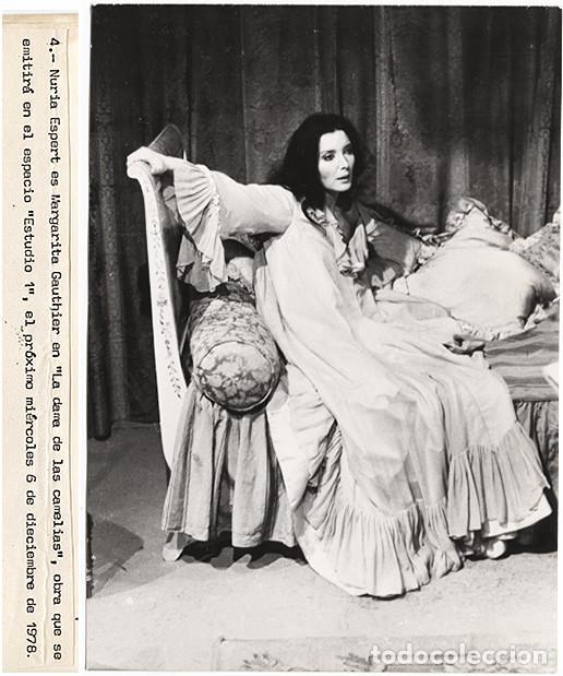 NURIA ESPERT Y ENRIC MAJÓ 'LA DAMA DE LAS CAMELIAS', TERENCI MOIX-ESTUDIO 1, 1978 (COPIAS VINTAGE) (Cine - Fotos, Fotocromos y Postales de Películas)