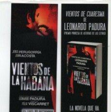 Cine: VIENTOS DE LA HABANA, CON JORGE PERUGORRÍA. MARCAPÁGINAS.. Lote 277648958