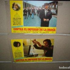 Cinema: FRENCH CONNECTION CONTRA EL IMPERIO DE LA DROGA 3 FOTOCROMOS ORIGINALES Q. Lote 63283728