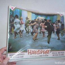 Cine: HAIRSPRAY (JOHN WATERS, 1988) SET COMPLETO DE 10 FOTOCROMOS - SONNY BONO, RUTH BROWN, DIVINE. Lote 104275802