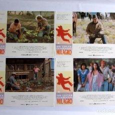 Cine: UN LUGAR LLAMADO MILAGRO 10 FOTOCROMOS ORIGINALES ROBERT REDFORD SONIA BRAGA NUEVOS. Lote 63515376