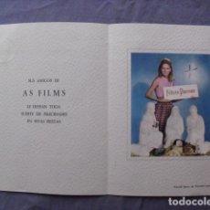Cine: CAMILA SPARV. FELICITACION NAVIDAD AS FILMS.. Lote 63690059