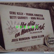 Cine: UN DIA EN NUEVA YORK: 12 FOTOS ORIGINALES ESTRENO 1951 + TITULO + SOBRE. Lote 33789834