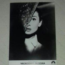 Cine: FOTO PELICULA VACACIONES EN ROMA . Lote 65433079
