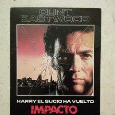Cine: TARJETA ORIGINAL 10*15 - IMPACTO SUBITO - CLINT EASTWOOD. Lote 101112012