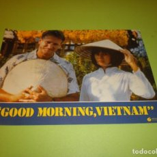 Cine: LOTE 12 FOTOCROMOS GOOD MORNING VIETNAM BARRY LEVINSON ROBIN WILLIAMS FOREST WHITAKER FOTOCROMO CINE. Lote 67164673