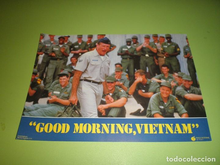 Cine: LOTE 12 FOTOCROMOS GOOD MORNING VIETNAM BARRY LEVINSON ROBIN WILLIAMS FOREST WHITAKER FOTOCROMO CINE - Foto 3 - 67164673