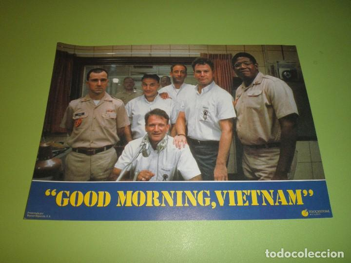 Cine: LOTE 12 FOTOCROMOS GOOD MORNING VIETNAM BARRY LEVINSON ROBIN WILLIAMS FOREST WHITAKER FOTOCROMO CINE - Foto 6 - 67164673