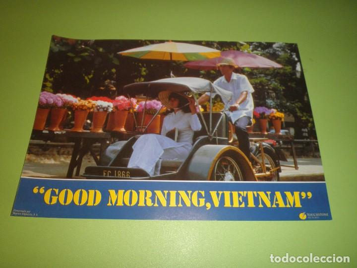 Cine: LOTE 12 FOTOCROMOS GOOD MORNING VIETNAM BARRY LEVINSON ROBIN WILLIAMS FOREST WHITAKER FOTOCROMO CINE - Foto 7 - 67164673