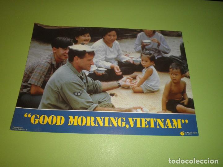 Cine: LOTE 12 FOTOCROMOS GOOD MORNING VIETNAM BARRY LEVINSON ROBIN WILLIAMS FOREST WHITAKER FOTOCROMO CINE - Foto 8 - 67164673