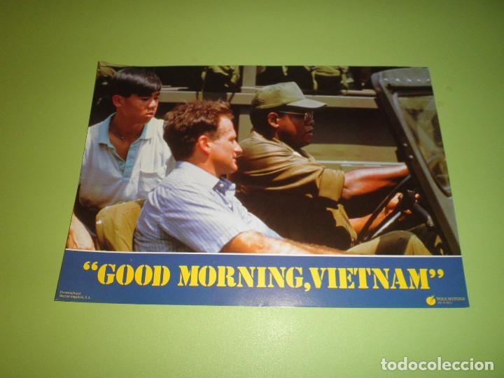 Cine: LOTE 12 FOTOCROMOS GOOD MORNING VIETNAM BARRY LEVINSON ROBIN WILLIAMS FOREST WHITAKER FOTOCROMO CINE - Foto 9 - 67164673