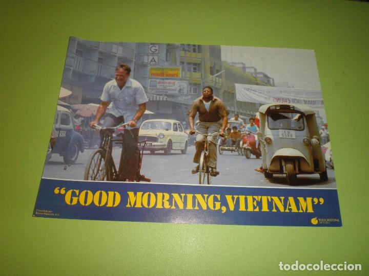 Cine: LOTE 12 FOTOCROMOS GOOD MORNING VIETNAM BARRY LEVINSON ROBIN WILLIAMS FOREST WHITAKER FOTOCROMO CINE - Foto 12 - 67164673