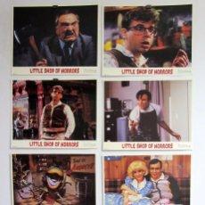 Cine: LITTLE SHOP OF HORRORS (1986) LOTE DE 8 FOTOCROMOS ORIGINALES NUEVOS. Lote 67402169
