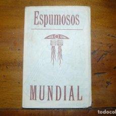 Cine: ESPUMOSOS MUNDIAL - DIPTICO PUBLICITARIO CON POSTAL DE ACTRIZ O ACTOR DE CINE. Lote 67856285