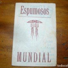 Cine: ESPUMOSOS MUNDIAL - DIPTICO PUBLICITARIO CON POSTAL DE ACTRIZ O ACTOR DE CINE. Lote 67856741