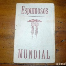 Cine: ESPUMOSOS MUNDIAL - DIPTICO PUBLICITARIO CON POSTAL DE ACTRIZ O ACTOR DE CINE. Lote 67857381