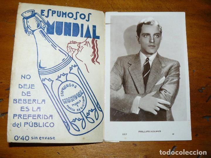 Cine: ESPUMOSOS MUNDIAL - DIPTICO PUBLICITARIO CON POSTAL DE ACTRIZ O ACTOR DE CINE - Foto 2 - 67875137