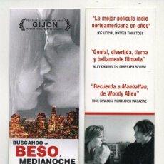 Cinema: BUSCANDO UN BESO A MEDIANOCHE, DE ALEX HOLDRIDGE. MARCAPÁGINAS.. Lote 68718821