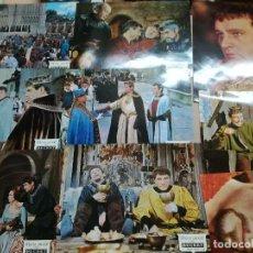Cine: PD95 BECKET RICHARD BURTON PETER O'TOOLE SET 11 FOTOCROMOS ORIGINAL ESPAÑOL. Lote 71931991