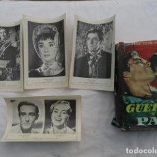Cine: LIBRO GUERRA Y PAZ CON 4 FOTOCROMOS DE LA PELÍCULA. AÑO 1964.. Lote 72703051