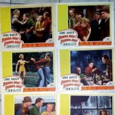 Cine: MARILYN MONROE SCUDDA HOO! SCUDDA HAY! SET DE 7 LOBBY CARDS ORIGINAL FOTOCROMOS. Lote 73622503