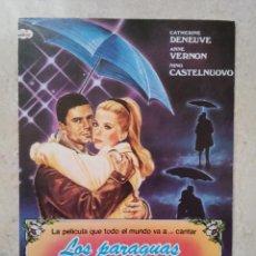 Cine: FICHA COLECCIONABLE 10*15 - LOS PARAGUAS DE CHERBURGO - CATHERINE DENEUVE . Lote 74363819