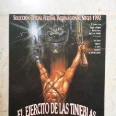 Cine: FICHA COLECCIONABLE 9*13-EL EJERCITO DE LAS TINIEBLAS POSESION INFERNAL - TERROR - GORE - SAM RAIMI. Lote 75412431