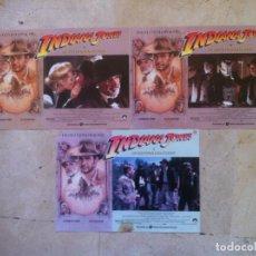 Cine: LOTE 3 FOTOCROMOS INDIANA JONES Y LA ULTIMA CRUZADA LOBBY CARDS. Lote 77371981
