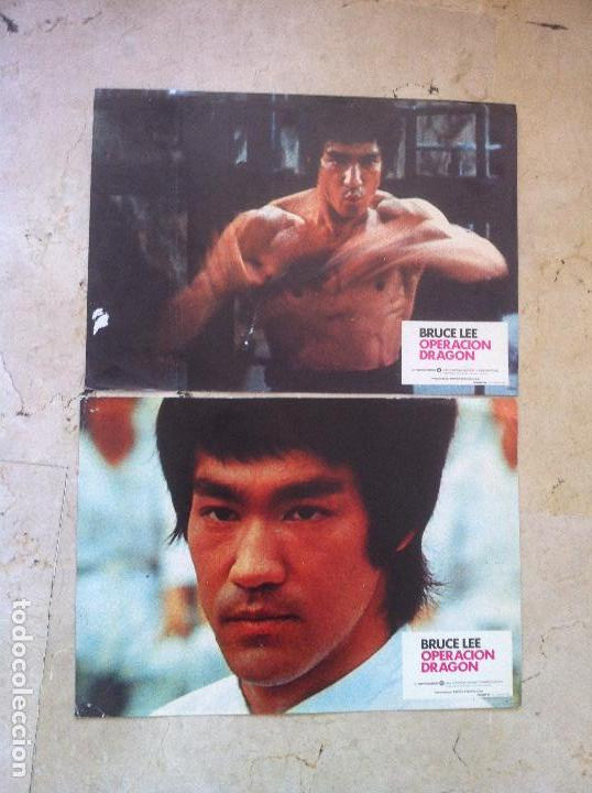 Cine: Lote 2 fotocromos OPERACION DRAGON lobby cards - BRUCE LEE - Foto 1 - 77372053