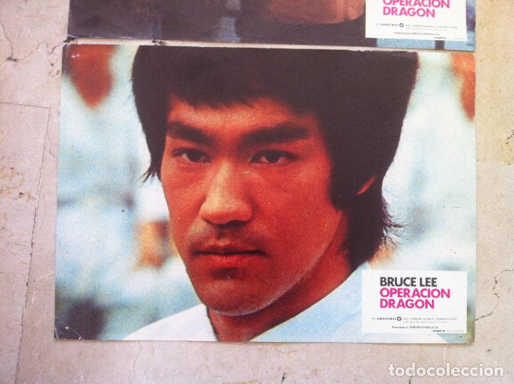 Cine: Lote 2 fotocromos OPERACION DRAGON lobby cards - BRUCE LEE - Foto 2 - 77372053