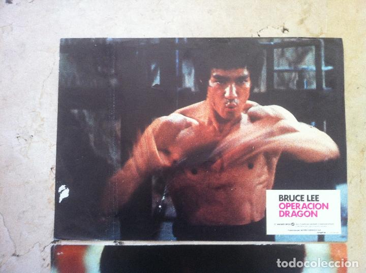 Cine: Lote 2 fotocromos OPERACION DRAGON lobby cards - BRUCE LEE - Foto 4 - 77372053