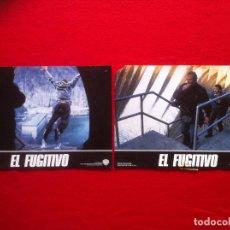 Cine: LOTE 2 FOTOCROMOS EL FUGITIVO LOBBY CARDS ¡¡¡ARTICULO COMPRA MINIMA 8 EUROS!!! . Lote 77529729