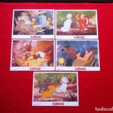 Cine: LOTE 5 FOTOCROMOS LOS ARISTOGATOS LOBBY CARDS . Lote 77531661