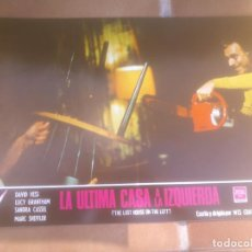 Cine: LA ULTIMA CASA A LA IZQUIERDA. GIGANTE FOTOCROMO ORIGINAL ESTRENO. Lote 77668265
