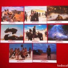 Cine: LOTE 8 FOTOCROMOS MAD MAX 3 LOBBY CARD CARTON-CARTULINA EDICION USA. Lote 78190337