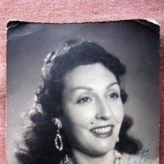 Cine: CARMINA ARGENTINA, FOTOGRAFIA FIRMADA Y DEDICADA, AÑO 1958. Lote 78583549
