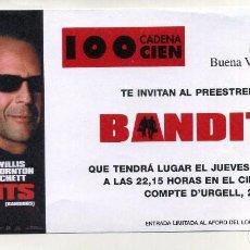 Cine: BANDITS, CON BRUCE WILLIS. PROGRAMA DE PREESTRENO, SOBRE 10 X 21 CMS... Lote 195049640