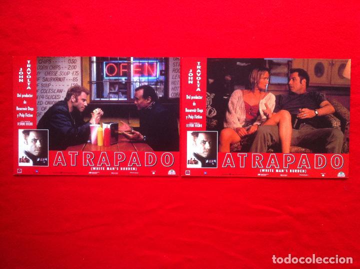 LOTE 2 FOTOCROMOS ATRAPADO LOBBY CARD ¡¡¡ARTICULO COMPRA MINIMA 8 EUROS!!! (Cine - Fotos, Fotocromos y Postales de Películas)