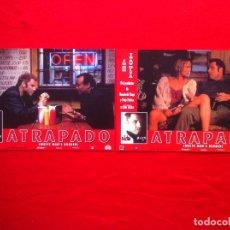 Cine: LOTE 2 FOTOCROMOS ATRAPADO LOBBY CARD ¡¡¡ARTICULO COMPRA MINIMA 8 EUROS!!!. Lote 83624816