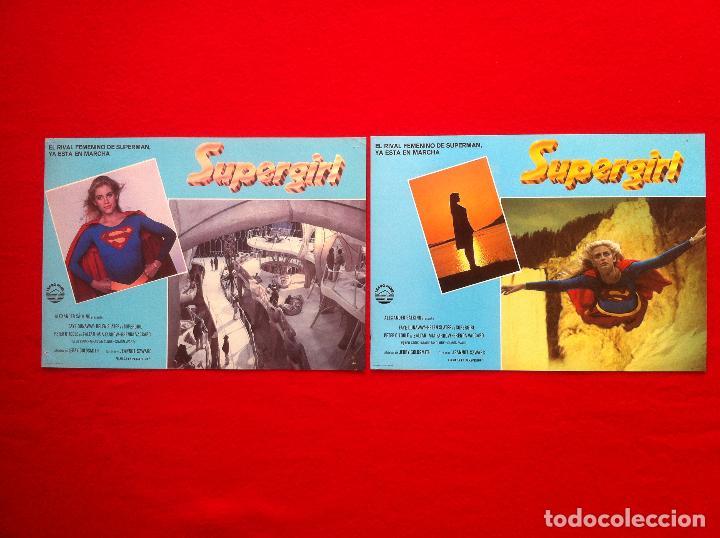 LOTE 2 FOTOCROMOS SUPERGIRL LOBBY CARD ¡¡¡ARTICULO COMPRA MINIMA 8 EUROS!!! (Cine - Fotos, Fotocromos y Postales de Películas)
