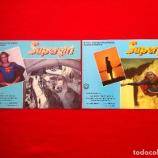 Cine: LOTE 2 FOTOCROMOS SUPERGIRL LOBBY CARD ¡¡¡ARTICULO COMPRA MINIMA 8 EUROS!!!. Lote 83625564