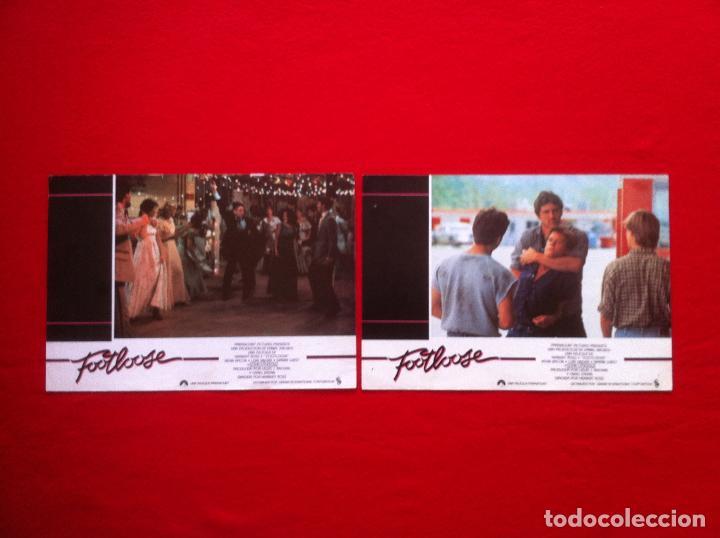 2 FOTOCROMOS FOOTLOOSE LOBBY CARD ¡¡¡ARTICULO COMPRA MINIMA 8 EUROS!!! (Cine - Fotos, Fotocromos y Postales de Películas)