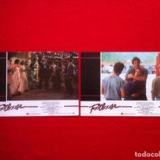 Cine: 2 FOTOCROMOS FOOTLOOSE LOBBY CARD ¡¡¡ARTICULO COMPRA MINIMA 8 EUROS!!!. Lote 83630008