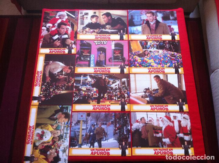 11 FOTOCROMOS UN PADRE EN APUROS LOBBY CARD (Cine - Fotos, Fotocromos y Postales de Películas)