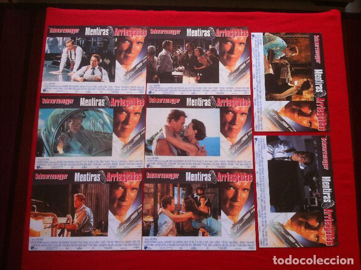 8 FOTOCROMOS MENTIRAS ARRIESGADAS LOBBY CARD (Cine - Fotos, Fotocromos y Postales de Películas)