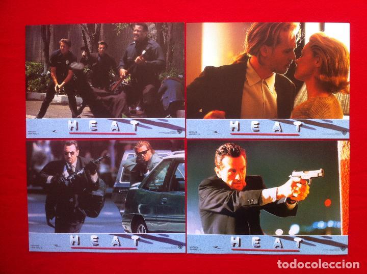 4 FOTOCROMOS HEAT LOBBY CARD ¡¡¡ARTICULO COMPRA MINIMA 8 EUROS!!! (Cine - Fotos, Fotocromos y Postales de Películas)