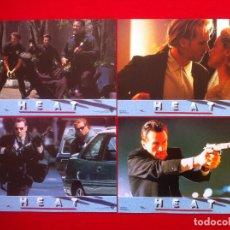 Cine: 4 FOTOCROMOS HEAT LOBBY CARD ¡¡¡ARTICULO COMPRA MINIMA 8 EUROS!!!. Lote 83634112